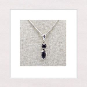 Jewelry - Genuine Black Onyx and Sterling Silver Pendant